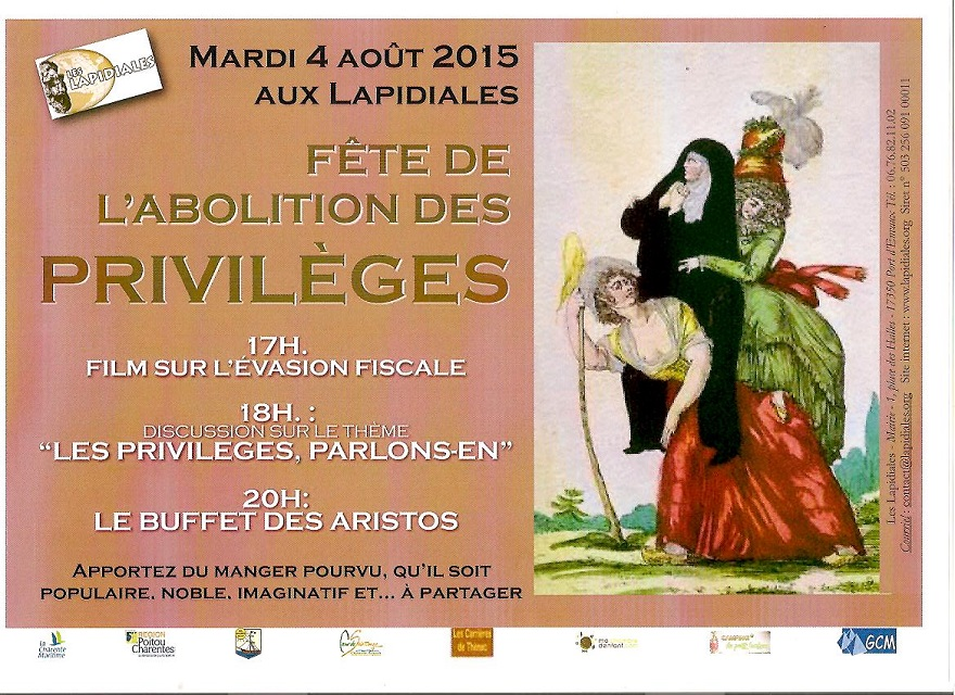 FETE DE L'ABOLITION DES PRIVILEGES