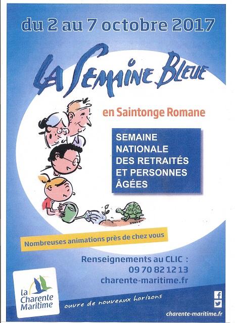 la semaine bleue en Saintonge Romane