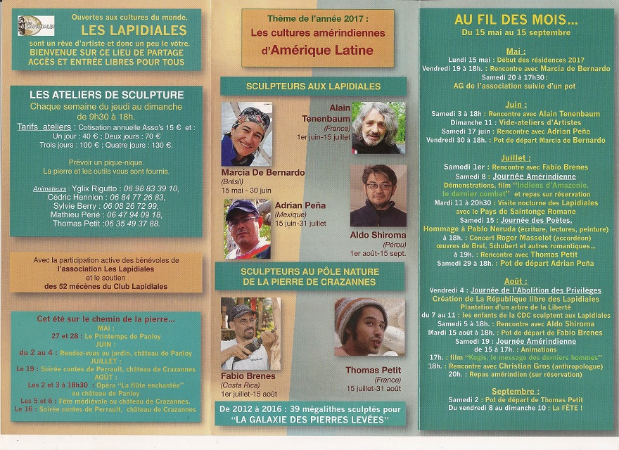 cultures amérindiennes d'Amérique Latine 2017