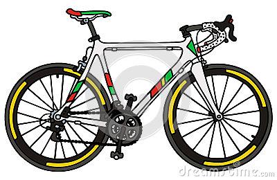 vélo-blanc-de-course-sur-route-61516871
