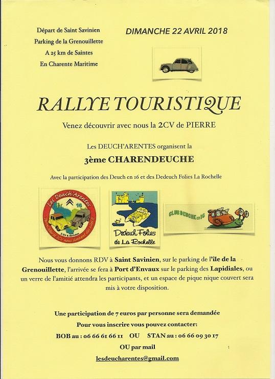 rallye touristique en Deuch