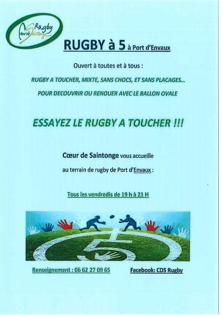 Rugby à 5 à Port d'Envaux