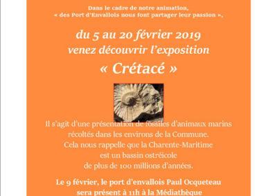 Conférence Crétacé  février 2019