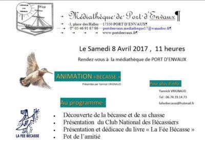 Conférence La Fée Bécasse avril 2017