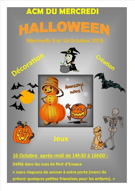 Attention ! Le mercredi, c'est Halloween au Centre de Loisirs