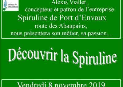 Conférence Spiruline novembre 2019