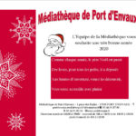 Les cadeaux du père Noël à la Médiathèque