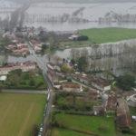 Vue aérienne St James inondé